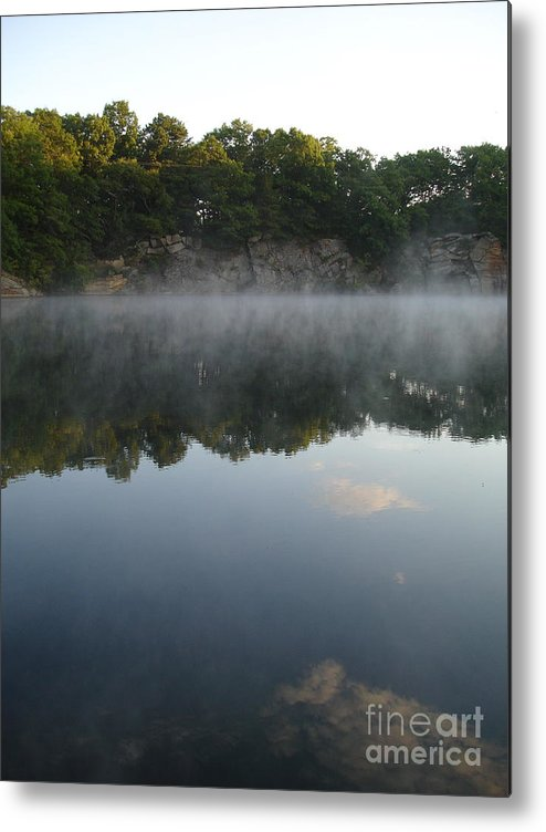 Landscape Metal Print featuring the photograph Quarry Reflections by Chad Natti