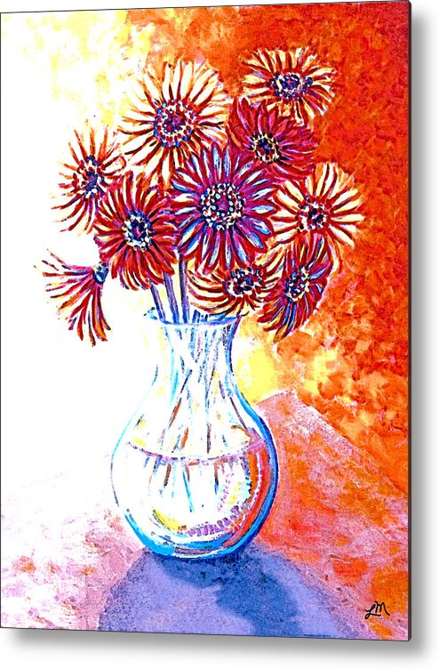 Contemporary Metal Print featuring the painting Radiant Array by Linda Mears