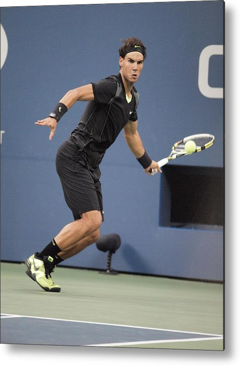 Rafael Nadal Metal Print featuring the photograph Rafael Nadal In Attendance For Us Open by Everett