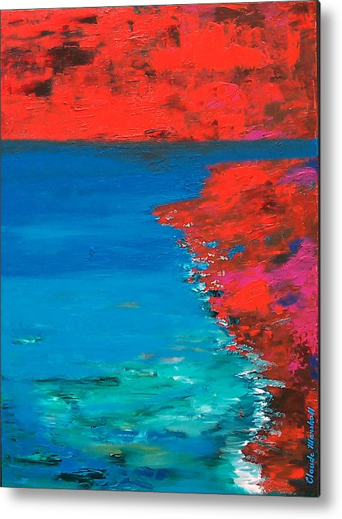 Art Metal Print featuring the painting Red Island by Claude Marshall