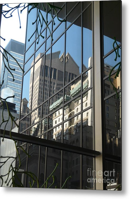 New York Metal Print featuring the photograph Reflected Johnson by Donna McLarty