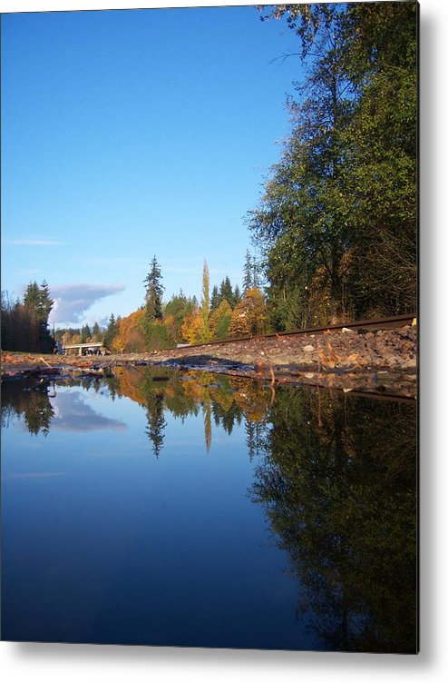 Fall Metal Print featuring the photograph Reflection Of Autumn by Ken Day