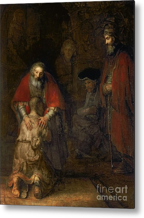 Return Metal Print featuring the painting Return Of The Prodigal Son by Rembrandt Harmenszoon van Rijn