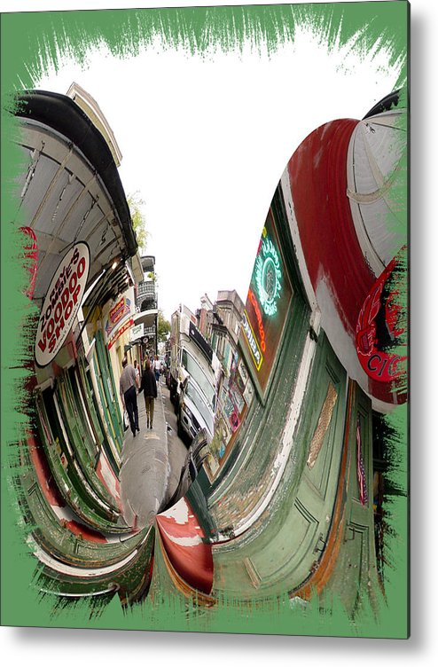 New Orleans Metal Print featuring the photograph Rev Zombie Twisted by Linda Kish