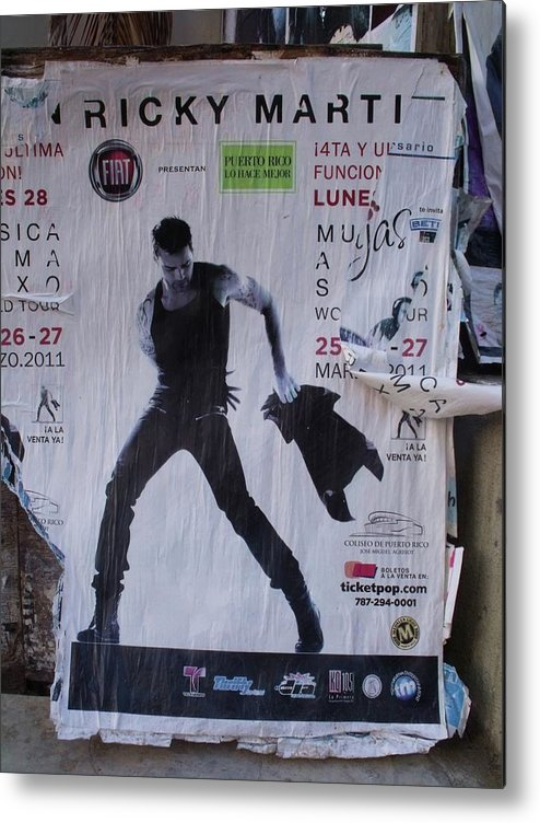 Ricky Martin Metal Print featuring the photograph Ricky Martin In Concert by Anna Villarreal Garbis