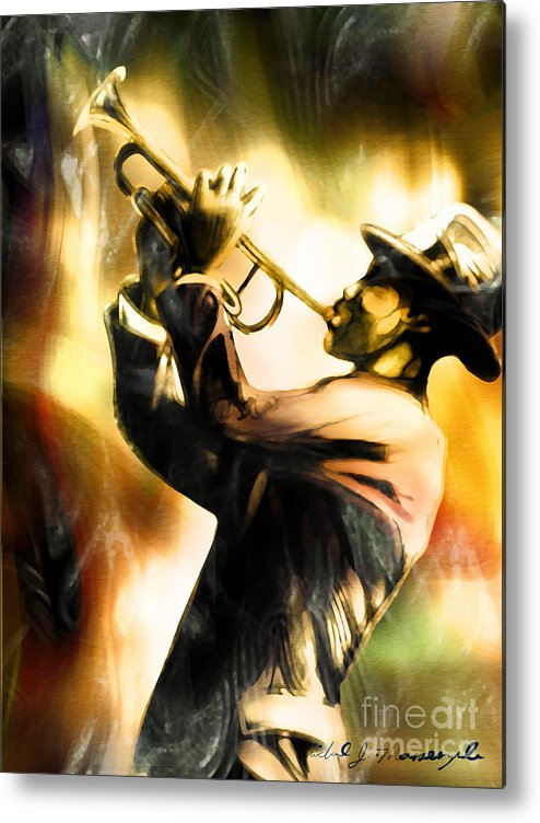 Jazz Art Metal Print featuring the painting Riff by Mike Massengale