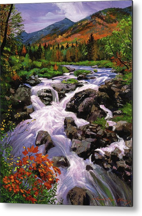 Rivers Metal Print featuring the painting River Sounds by David Lloyd Glover