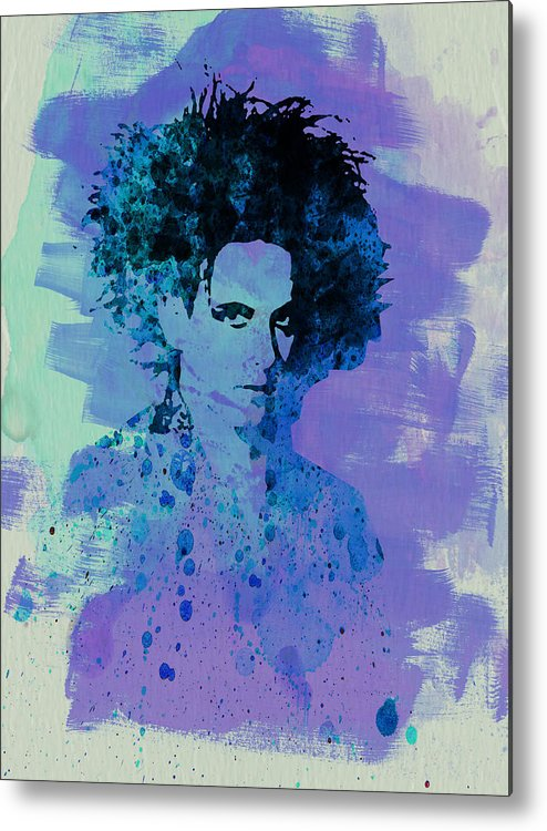 Robert Smith Metal Print featuring the painting Robert Smith Cure by Naxart Studio
