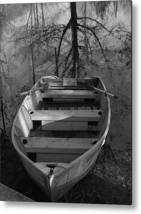 Boat Metal Print featuring the photograph Rowboat And Tree by Michael L Kimble