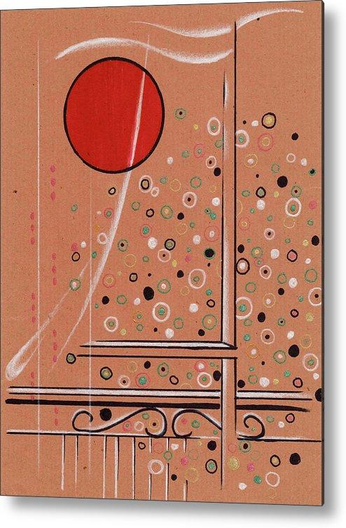 Landscap Metal Print featuring the painting Rubby Moon by  KliKaMi