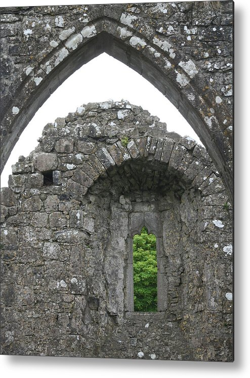 Ireland Metal Print featuring the photograph Ruins Of A 9th Century Monastery In Ireland by Beverlee Singer