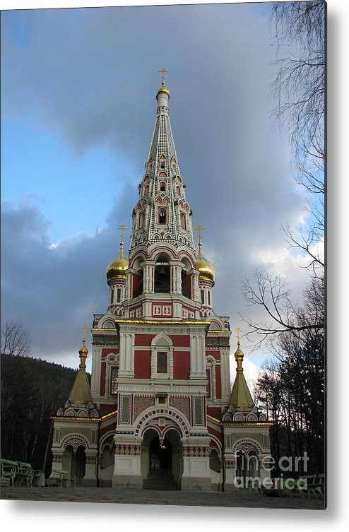 Monument Metal Print featuring the photograph Russian Church At Shipka by Iglika Milcheva-Godfrey