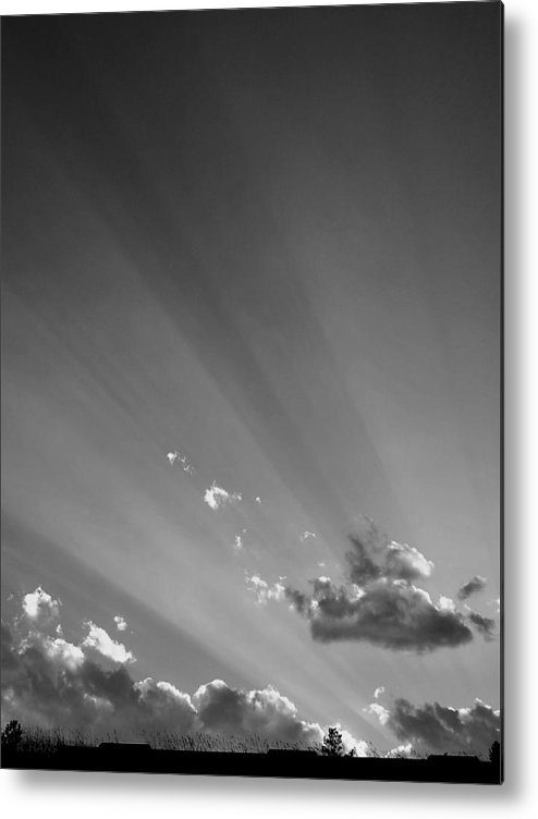 Beautiful Metal Print featuring the photograph S D Blue Skys B W by Rob Hans
