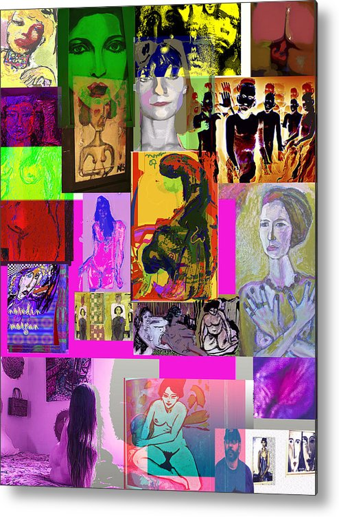 Collage Metal Print featuring the painting Salatah by Noredin Morgan