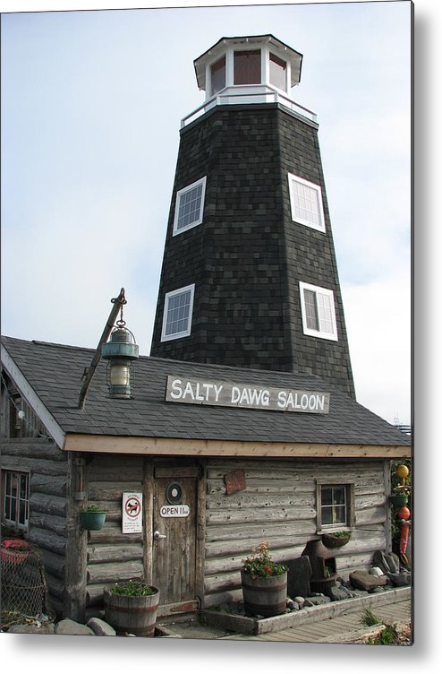 Salty Dawg Saloon Metal Print featuring the photograph Salty Dawg Saloon by April Camenisch