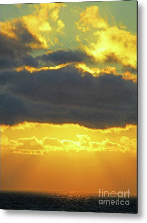 Seaview Sunset Metal Print featuring the photograph Seaview Sunset 3 by Randall Weidner