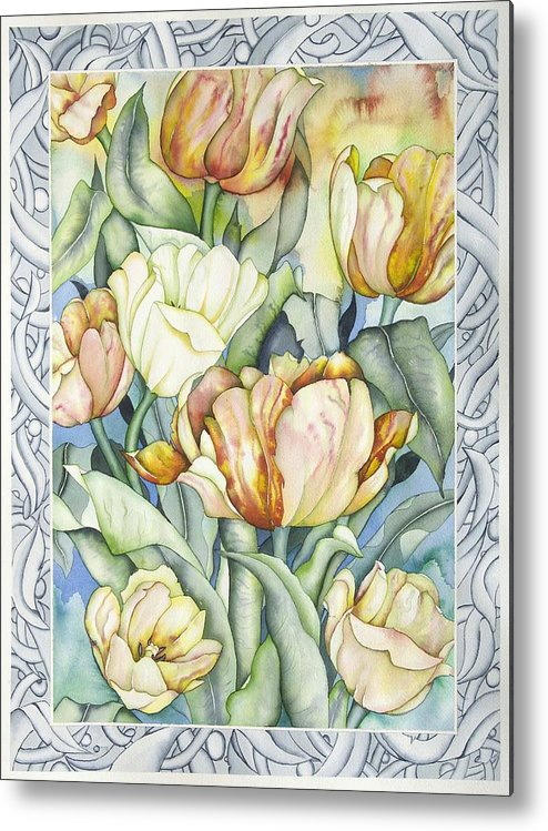 Flowers Metal Print featuring the painting Secret World IIi by Liduine Bekman