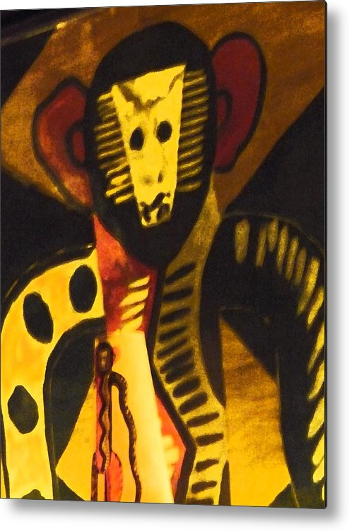Abstract Metal Print featuring the digital art See No Evil by Florene Welebny