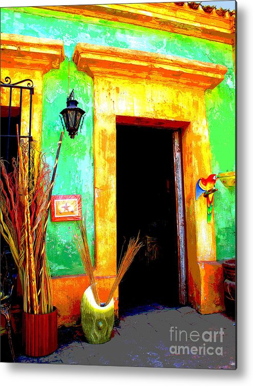Darian Day Metal Print featuring the photograph Shop El Quilete By Darian Day by Mexicolors Art Photography