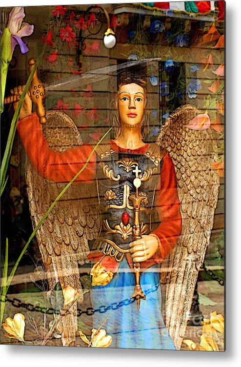 Darian Day Metal Print featuring the photograph Shop's Angel by Mexicolors Art Photography