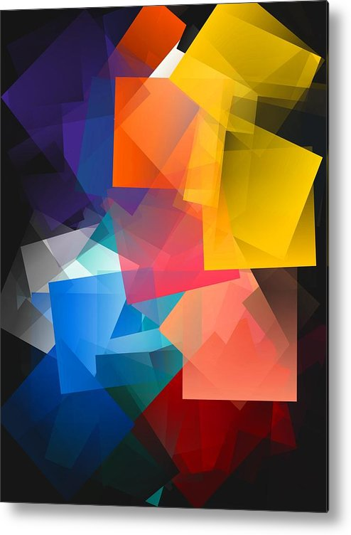 Simple Cubism Abstract 116 Metal Print