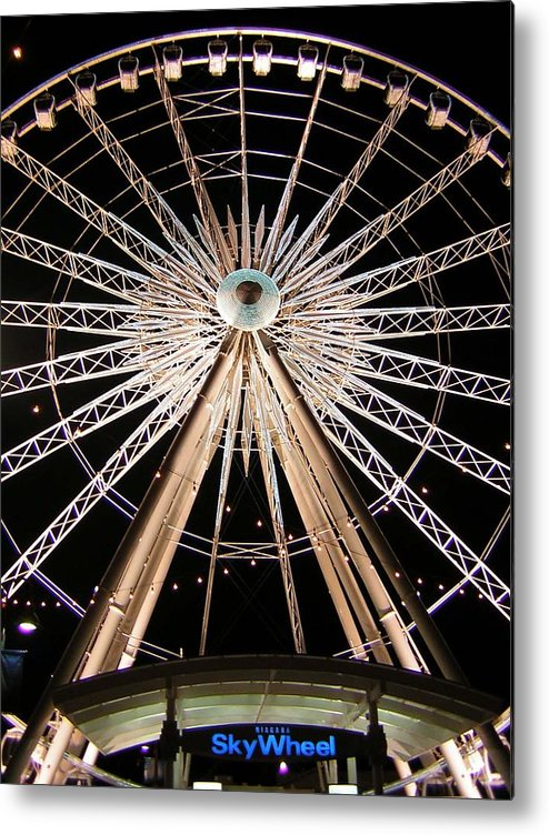Sky Wheel Metal Print featuring the photograph Sky Wheel by Heather Weikel