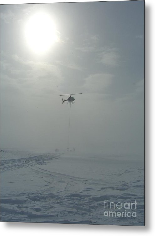 Helicopter Metal Print featuring the photograph Snow Heli -25deg by Jim Thomson