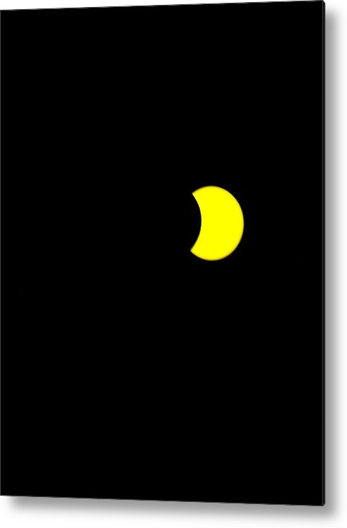 Sun Metal Print featuring the painting Solar Eclipse, Cookie Bite by Celestial Images