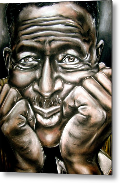 Son Metal Print featuring the drawing Son House by Zach Zwagil