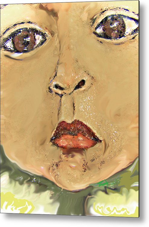 Portrait Metal Print featuring the painting Sonflower by Noredin Morgan
