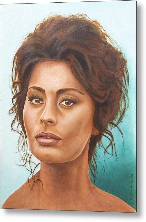 Moviestar Metal Print featuring the painting Sophia Loren by Rob De Vries