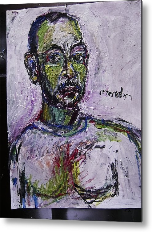 Self Portrait Metal Print featuring the painting Sp9508 by Noerdin Morgan