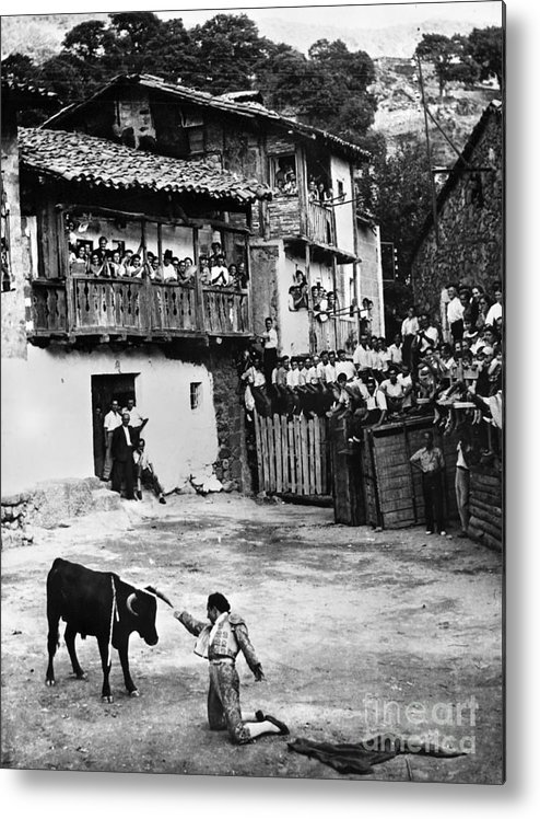 20th Century Metal Print featuring the photograph Spain: Bullfight by Granger