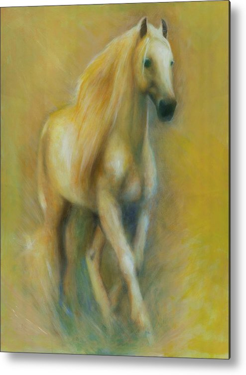 Horse Metal Print featuring the painting Spirit by Elizabeth Silk