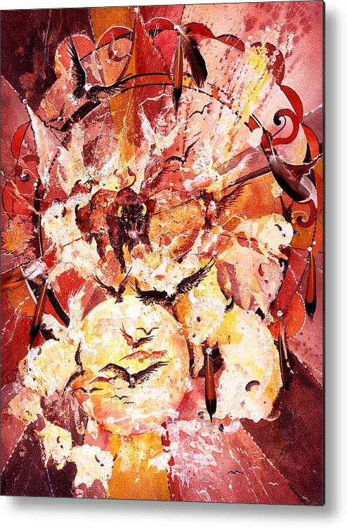 Spiritual Metal Print featuring the painting Spirits Freed by Connie Williams