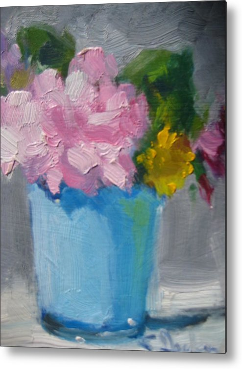Floral Metal Print featuring the painting Spring Bouquet by Susan Jenkins