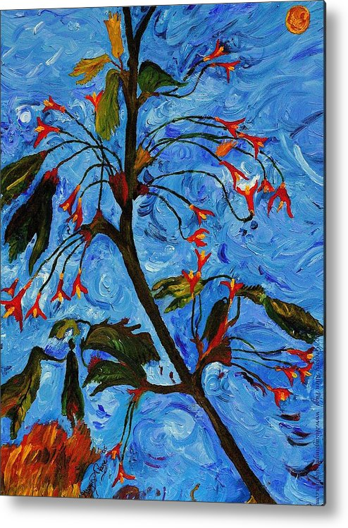 Flowers Metal Print featuring the painting Spring Tree by Gregory Allen Page