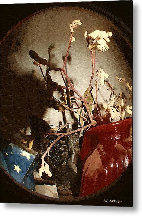 Antiques Metal Print featuring the painting Spyglass Through Time by RC DeWinter