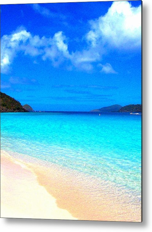 Ocean Metal Print featuring the photograph St. Thomas Heaven by Caroline Urbania Naeem