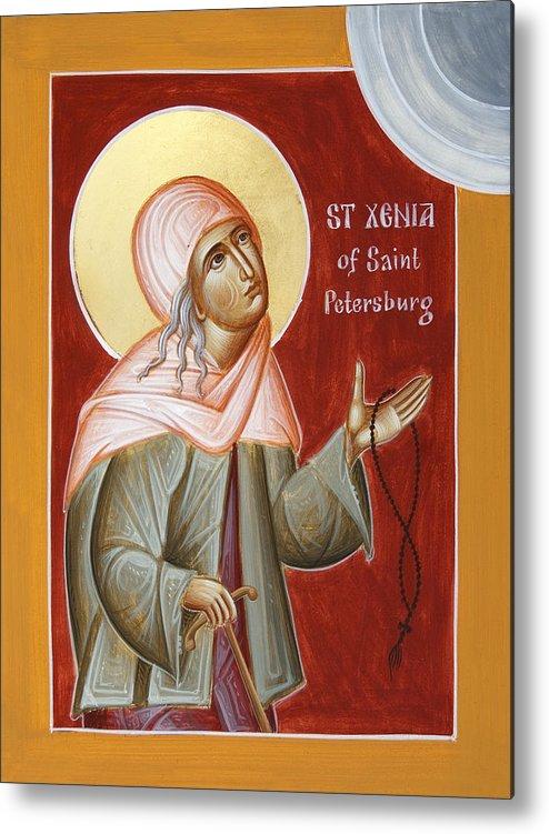 St Xenia Of St Petersburg Metal Print featuring the painting St Xenia Of St Petersburg by Julia Bridget Hayes