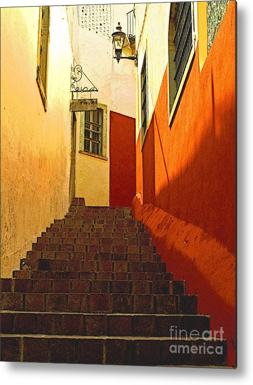 Darian Day Metal Print featuring the photograph Stairway Guanajuato by Mexicolors Art Photography