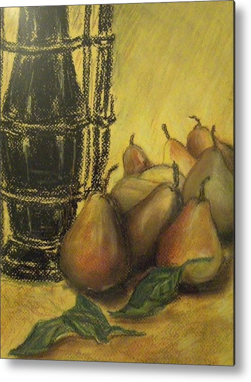 Still Life Metal Print featuring the painting Still Life With Pears by Rita Bandinelli