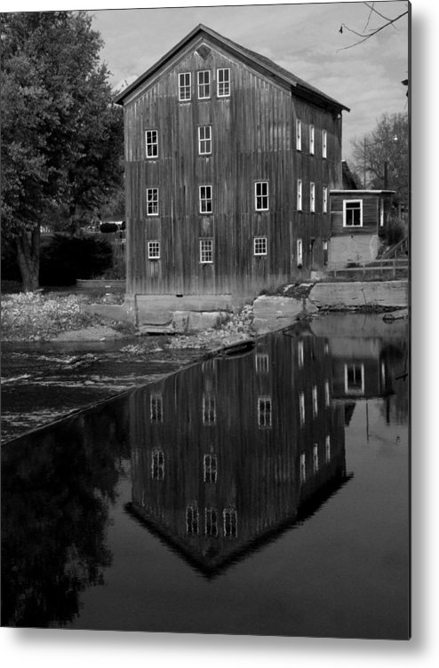 Fine Art Photograph Metal Print featuring the photograph Stockdale Mill by Michael L Kimble