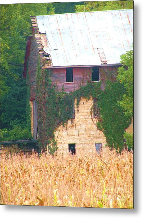 Kansas Barns Metal Print featuring the photograph Stoic by Christine Belt