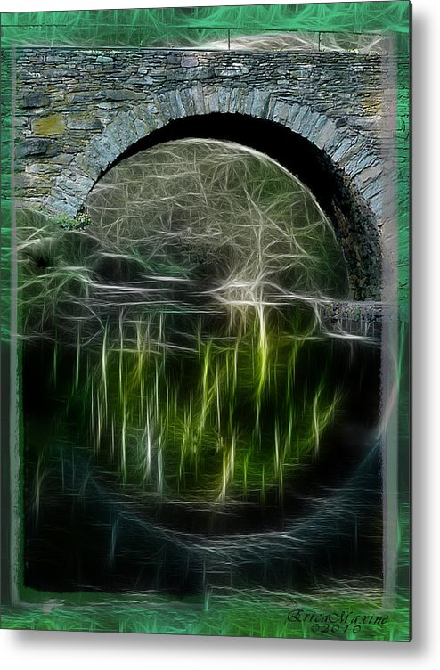 Bridge Metal Print featuring the photograph Stone Arch Bridge - Ny by Ericamaxine Price