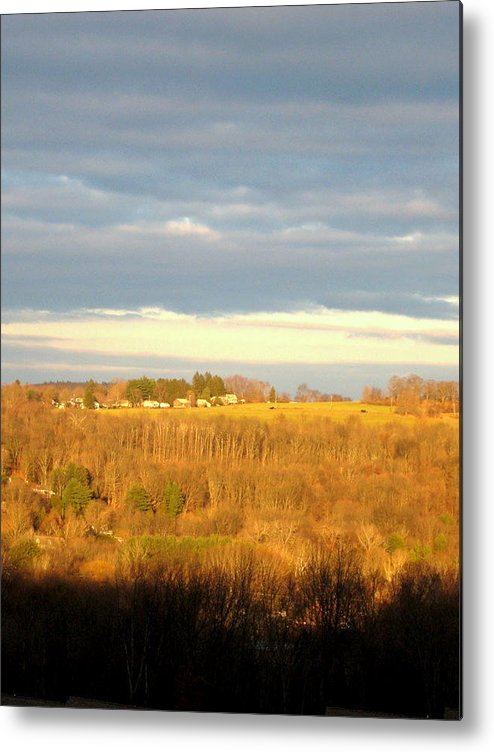 Clouds Metal Print featuring the photograph Storm Clouds by Marcia Crispino