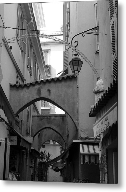 France Metal Print featuring the photograph Streets Of Cannes 1 In Black And White by Holly Wolfe