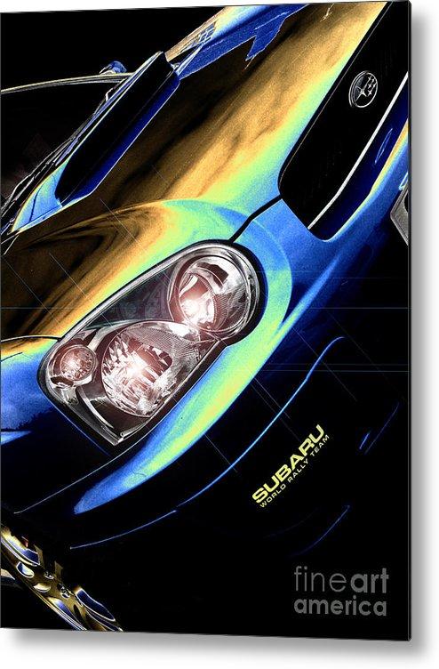 Car Metal Print featuring the digital art Subaru Impreza by Nigel Bangert