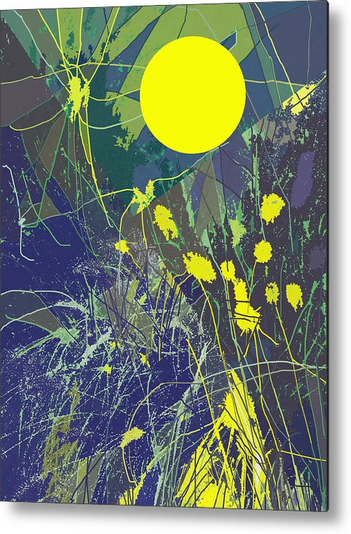 Abstract Metal Print featuring the digital art Summer Memories by Ian MacDonald