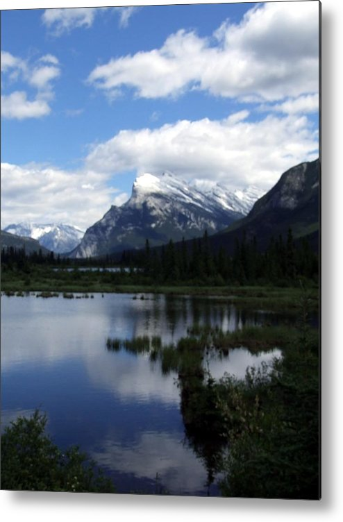 Landscape Metal Print featuring the photograph Summertime In Vermillion Lakes by Tiffany Vest